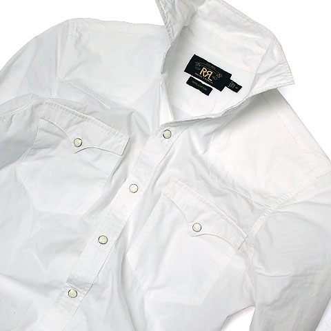 Double RL WESTERN COTTON WHITE SHIRTS