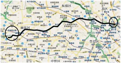 ご参考までの石神井川の地図 ... : 地図 プリントアウト : プリント