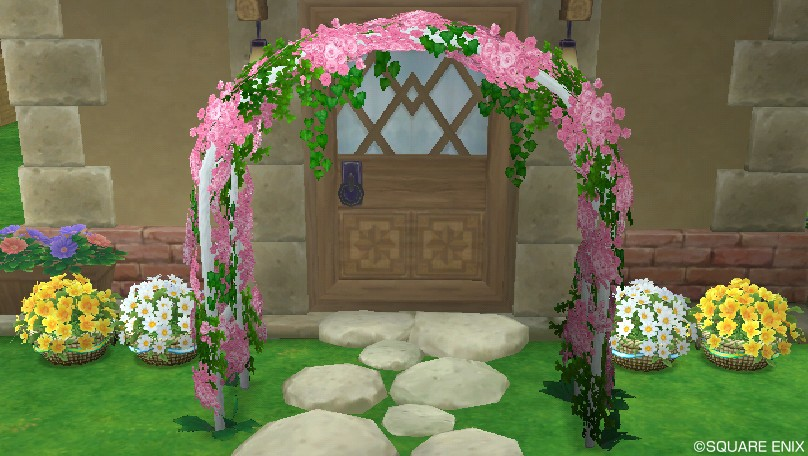 玄関前の植木鉢