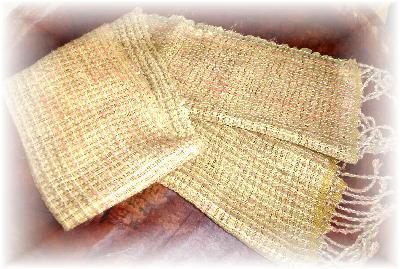 裂き織りマフラー1-2