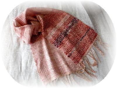 裂き織りマフラー4-1