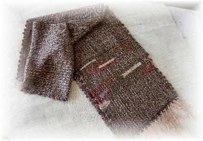 裂き織りマフラー6
