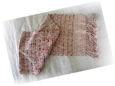 裂き織りマフラー11