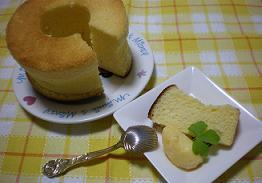 ☆レモンシフォンケーキ+自家製バニラアイス☆