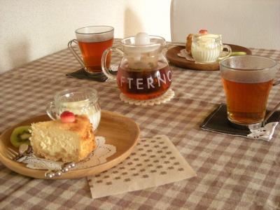 チーズケーキで朝ごはん_convert_20091122151609
