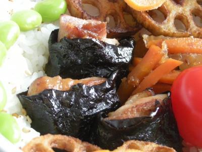 12月15日鶏肉の磯辺巻き弁当2_convert_20091216153551
