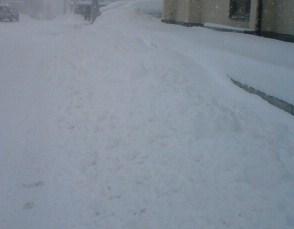 12月21日の雪道