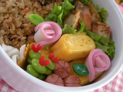 1月14日鮭とちくわのピリ辛炒め弁当2_convert_20100114135045