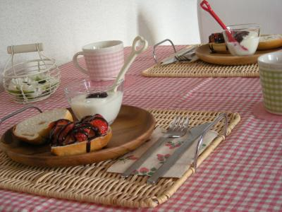 いちごチョコベーグルで朝ごはん4_convert_20100114135017