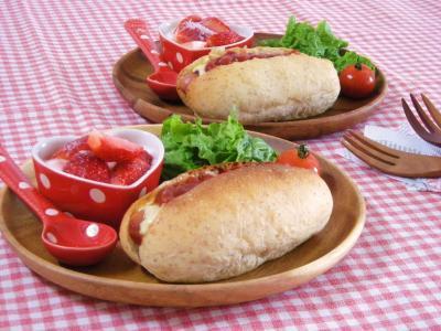 ライ麦ホットドッグで朝ごはん_convert_20100129104609