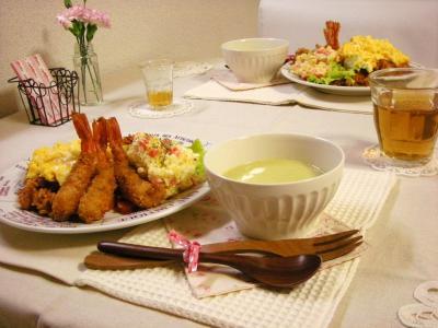 オムライス&エビフライの食卓_convert_20100305152800
