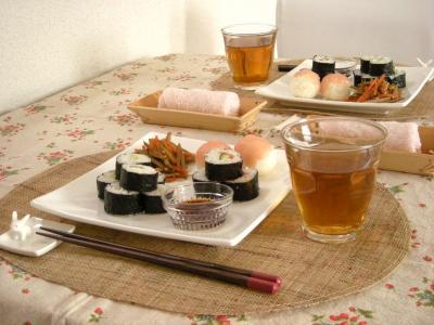 お寿司プレートで朝ごはん_convert_20100309134827