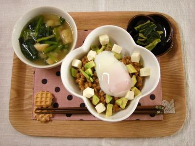 納豆丼で朝ごはん_convert_20100315170124