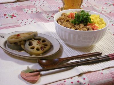 そぼろ丼セット_convert_20100318214719
