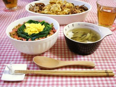 豆腐そぼろ丼で晩ごはん2_convert_20100429151652