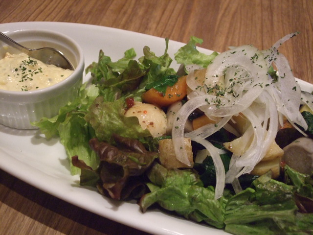 温野菜のサラダwithタルタルソース
