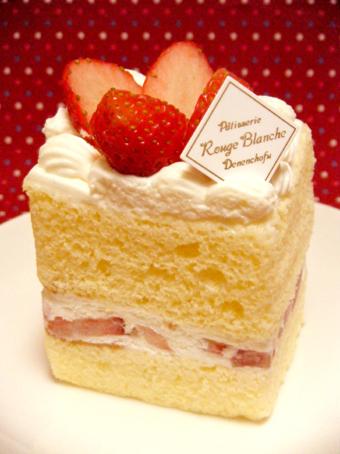 『ルージュブランシュ』の苺のショートケーキ