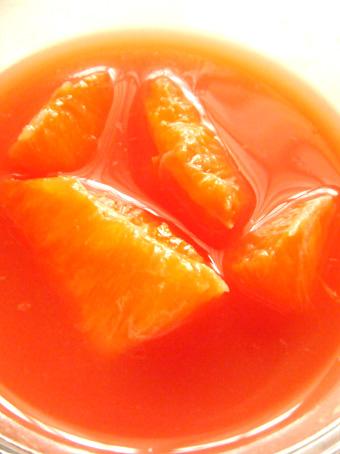 『千疋屋総本店』の絹ごしフルーツ杏仁 ダブルオレンジ