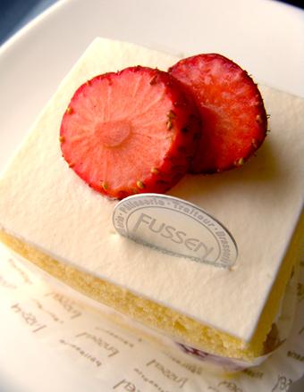 『フュッセン』の苺のショートケーキ