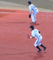 ベイvs広島戦 三遊間の村田・石川の両選手