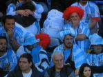 完敗に嘆くアルゼンチン・サポーター…