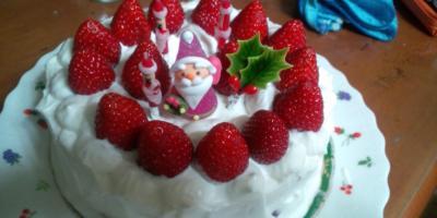 娘手作りクリスマスケーキ2010年
