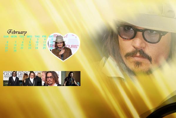 ジョニーカレンダー2011年2月分