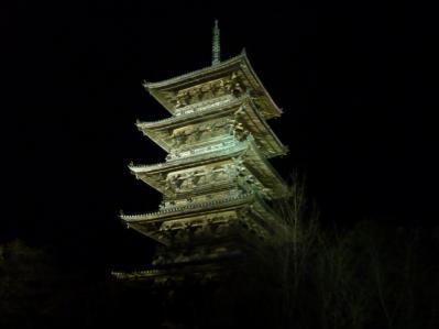 五重塔ライトアップ3