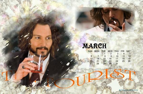 2011年3月用ジョニーカレンダー