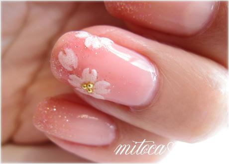桜ネイル。
