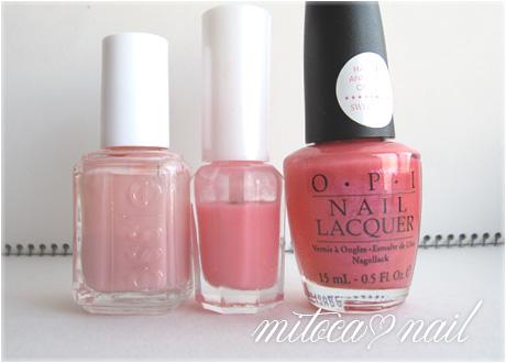 ちゅるりんピンク3種ネイル