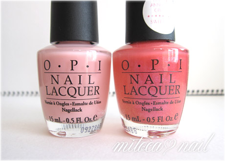 OPI #SRAL9 Pink Cup Cake(ピンクカップケーキ)とOPI #H19 Passion(パッション)