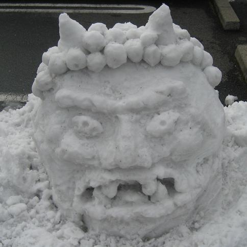 雪オニ(着色前)