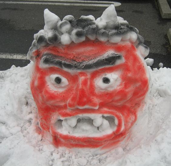 雪オニ(着色後)