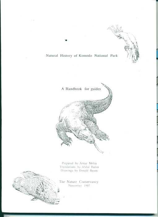 コモド国立公園の自然史ーガイドのためのハンドブック, nATURE cONSERVANCY,1997縮小