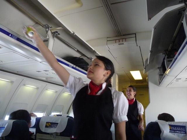 ガラパゴスへの飛行機洗浄