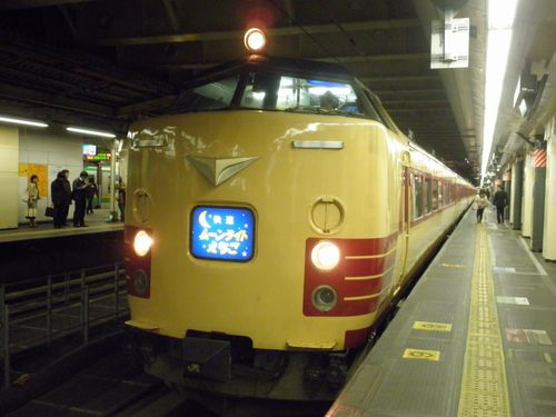新ニイ485系「ムーンライトえちご」(2012年3月21日・新宿駅)1