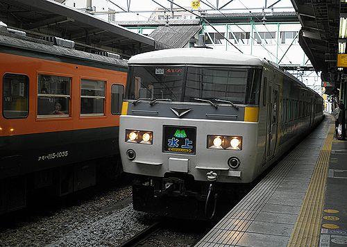 宮オオ185系OM01編成・特急「水上」(2010年11月14日・高崎駅)