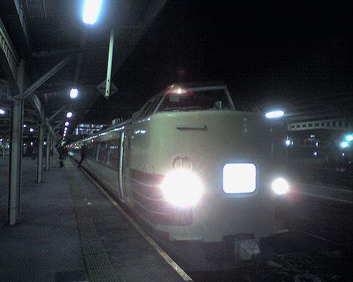東チタ183系快速「ムーンライトながら」(2010年1月5日・大垣駅)