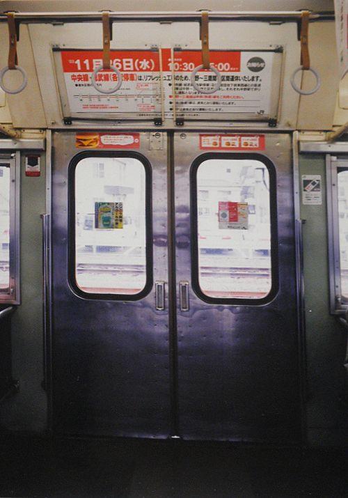 宮ハエ103系3000番代ドア(2003年11月26日・八王子駅)