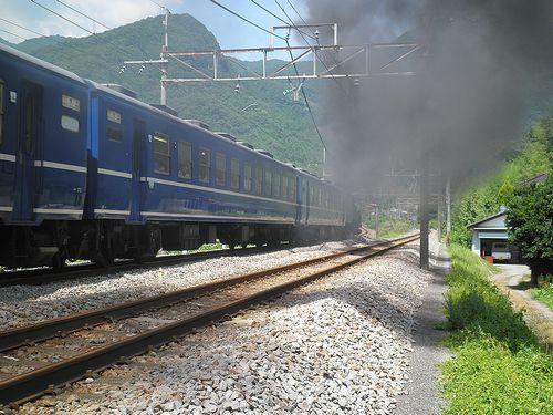 12系・上越線「SLみなかみ」号(2011年8月9日・津久田駅)