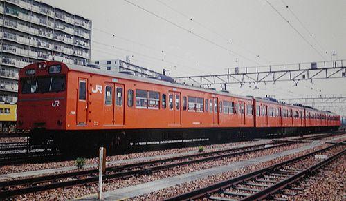 八トタ103系青5編成(2002年4月13日・拝島駅)