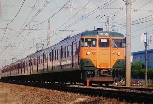 横コツ113系K43編成(2002年7月25日・辻堂~茅ヶ崎間)