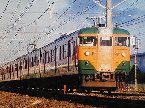 横コツ113系K72編成(2002年7月25日・辻堂~茅ヶ崎間)