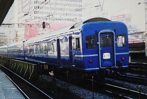 オハネフ25形300番代(2005年2月・有楽町駅)