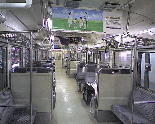 モハ113-1259(千マリS70編成)車内(2010年7月18日・快速「白い砂」車内)