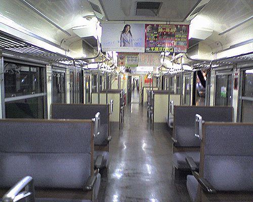クハ111-1345(千マリ208編成)車内(2010年2月21日・成田空港駅)