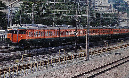静シス113系「T16」編成(2001年10月7日・横浜~保土ヶ谷間)