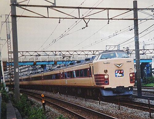 千マリ183系「30」編成「踊り子20周年記念号」(2001年10月7日・横浜~保土ヶ谷間)1