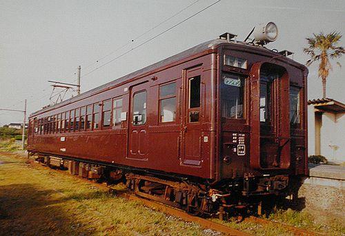 小野田線本山支線クモハ42001(広セキ)(2001年4月24日・長門本山駅)